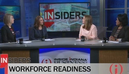 The panel, hosted by Beck Communications Group President Lara Beck, was part of an all-women edition of Inside INdiana Business.