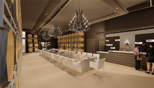 Rendering courtesy of Two EEs Winery