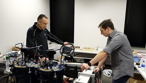 Co-founder Eric Nauman and Senior Engineer Michael Dziekan (Picture Courtesy: Lyna Landis, Purdue Research Foundation)