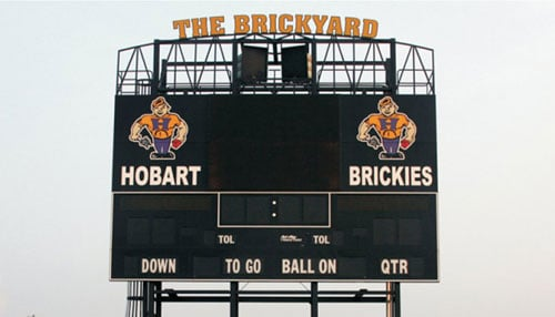 Photo of Brickyard Stadium courtesy of Hobart Football