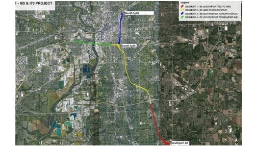 I-65 INDOT construction map