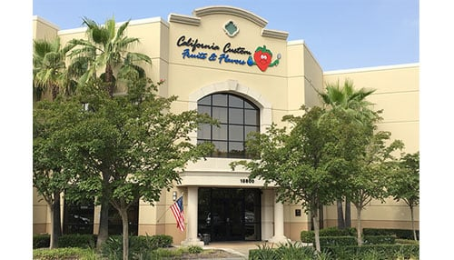 Photo of CCFF Headquarters courtesy of California Custom Fruits and Flavors