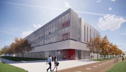 (Innovation Hall rendering courtesy of IUPUI)