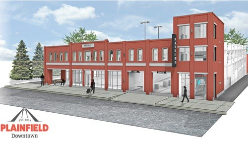 (rendering courtesy Town of Plainfield)