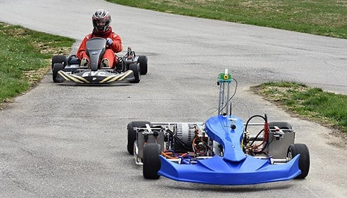 The races will feature both manned and autonomous karts. (photo courtesy of Purdue Motorsports)