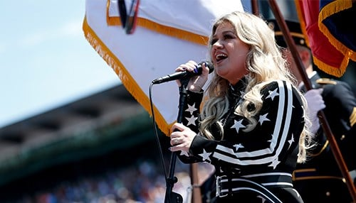 Clarkson previously sang the National Anthem at the race in 2018 and 2011. (photo courtesy of Indianapolis Motor Speedway)