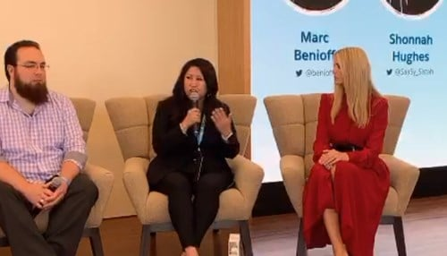 This morning's event, which includesPresident Trump Advisor Ivanka Trump, is part of the customer relationship management company's inaugural Trailblazer Day.