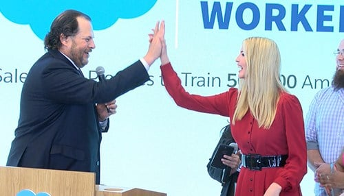 Salesforce co-CEO Marc Benioff and Ivanka Trump