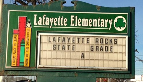Photo courtesy of Lafayette Elementary School
