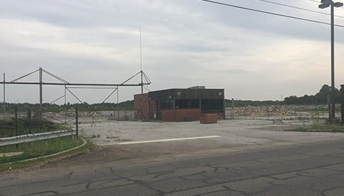 Demolition of the former BorgWarner site has been underway for several months. (photo courtesy of Dan McGowan)