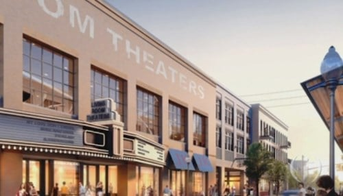 Theater rendering courtesy: Hendricks Commercial Properties