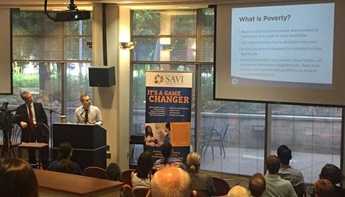 The results of the report were presented during a discussion Thursday in Indianapolis. (photo courtesy of The Polis Center)