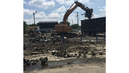 Trinity Body Shop demolition. (photo courtesy city of Indianapolis)