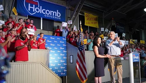 (photo courtesy of the Holcomb for Indiana campaign)