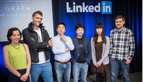 IU researchers at LinkedIn HQ in 2015. (Courtesy: LinkedIn)