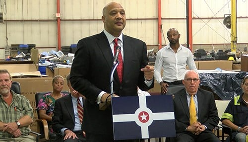Congressman Andre Carson joined city officials for the grant announcement.