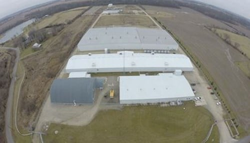 Aerial view of AquaBounty's facility in Albany, IN (courtesy AquaBounty Technologies)