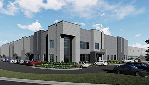 Construction has begun on the first spec building in the park. (rendering courtesy of GDI Companies)