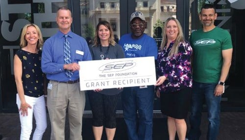 The recipients of the SEP foundation's inaugural round of grants help people in need.