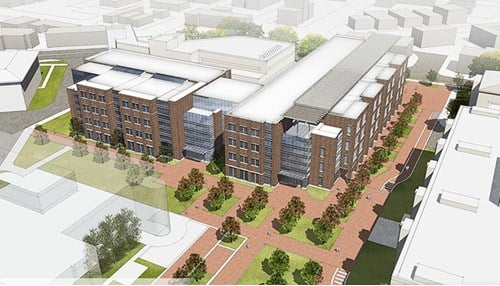 Artist rendering of Purdue's Engineering and Polytechnic Gateway Complex