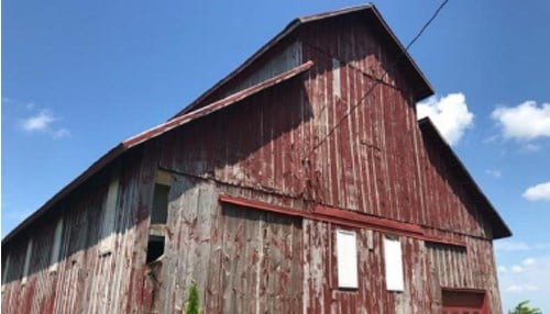 The owners of this historic barn in Attica received a grant from the state to renovate the barn.