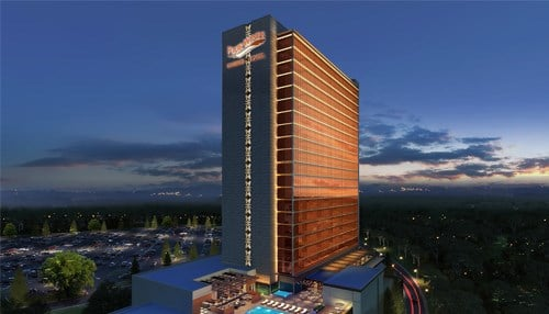 (Plans were announced to build a 23 story hotel for the Four Winds Casino in South Bend)