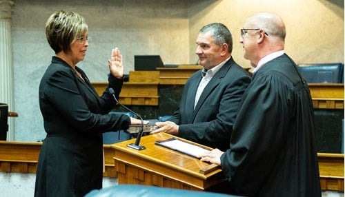 Stacey Donato is sworn-in as State Senator of District 18