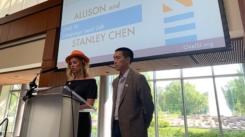 Allison and Stanley Chen provided the lead gift for the campaign. (Provided Photo/ISI)