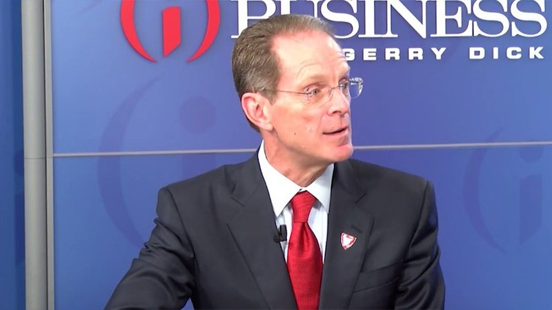 Mearns was named Ball State's president in 2017.
