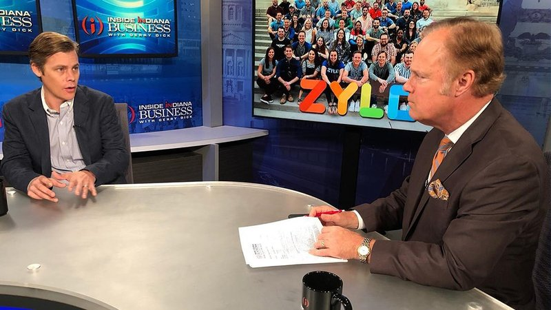Eric Christopher (left) will talk about the funding round this weekend on Inside INdiana Business with Gerry Dick.