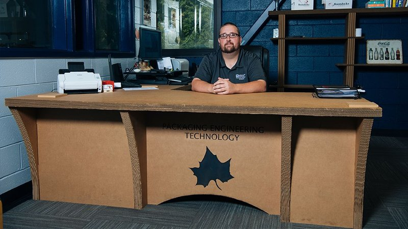 Brian James heads up the Packaging Engineering Technology program. (Provided Photo/Indiana State University)