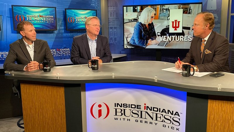 (from left) Jason Whitney and Tony Armstrong recently appeared on Inside INdiana Business with Gerry Dick. (IIB Photo/Joe Ulery)