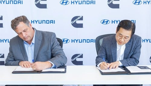 Cummins Inc. & Hyundai enter into a MOU to accelerate development of hydrogen fuel cell technology.