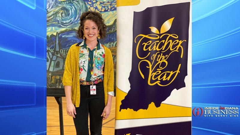 Katie Pourcho is the 2020 Indiana Teacher of the Year (photo courtesy of IDOE)