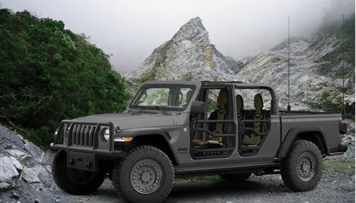 AM General & Fiat Chrysler announce plans to build military grade Jeep Gladiator pickup trucks.