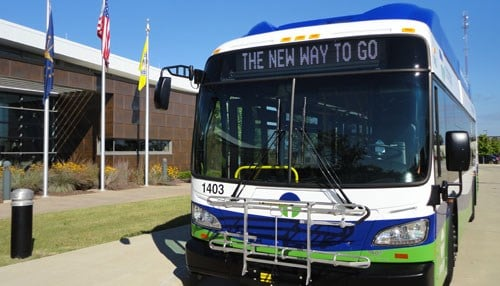 Transpo is South Bend's municipal bus system. (photo courtesy of Transpo)