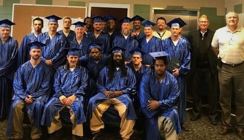 Graduates from the 1st cohort for manufacturing at Branchville Correctional Facility (photo ctsy: Dept of Corrections)