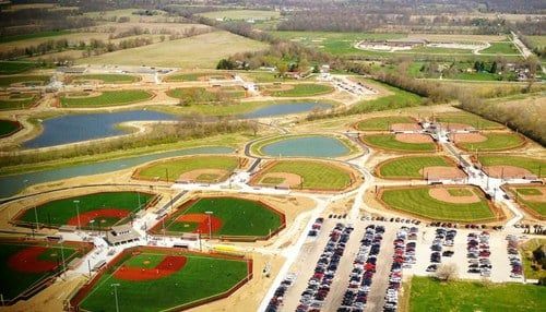 The 400-acre complex features more than 50 fields.