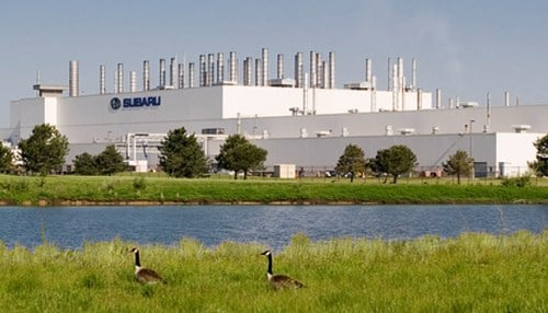 Subaru of Indiana Automotive in Lafayette is one of the automakers listed in the report.