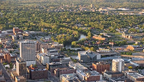 The city of South Bend is the highest-ranked Hoosier city on the list.