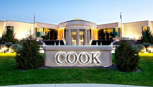 Cook Medical is the overall highest-ranked Indiana company on the list.