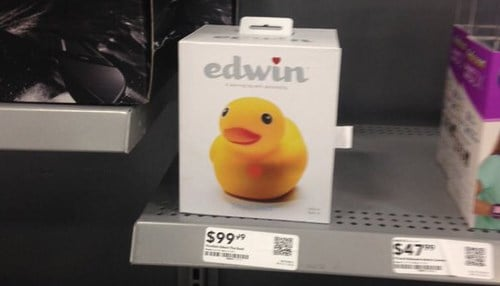 pi lab's Edwin the Duck hit Best Buy shelves earlier this year.