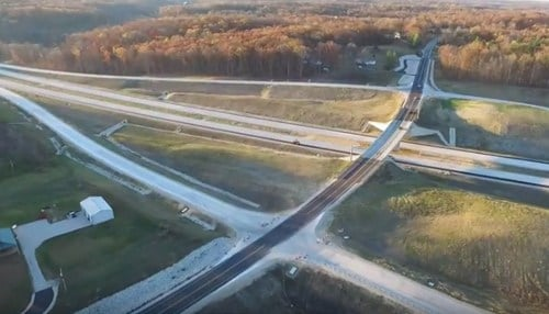 Image of a stretch of I-69 in southern Indiana courtesy of the Indiana Department of Transportation.
