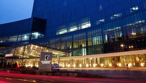 The JW Marriott Indianapolis ranks third on this year's list.