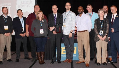 Rose-Hulman administrators and faculty accepted the award at the 2016 KEEN Winter Conference.