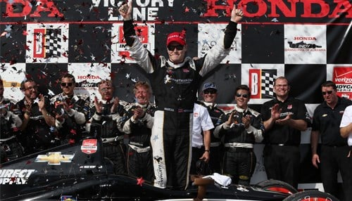 Josef Newgarden won two races for CFH Racing in 2015. (photo courtesy INDYCAR/LAT USA)