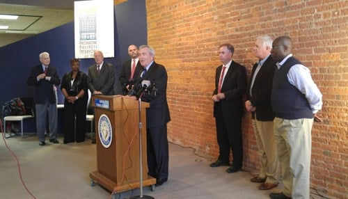 Mayor Tom Henry made the announcement along with other city officials. (Image courtesy Greater Fort Wayne Inc.)