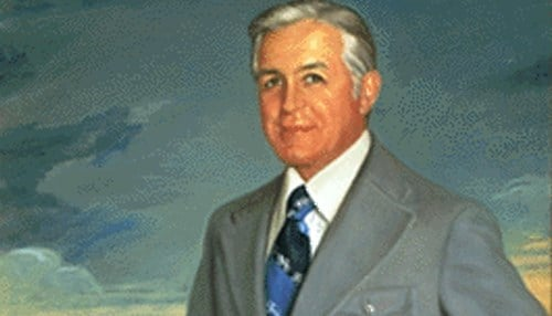 (Photo of painting courtesy of the state of Indiana) Edgar Whitcomb - 1917 - 2016