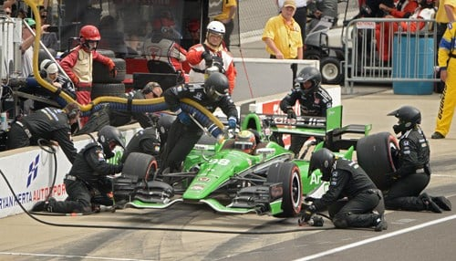 The no. 98 Honda and its crew will join the Andretti Autosport ranks. (Image courtesy of INDYCAR/LAT USA)