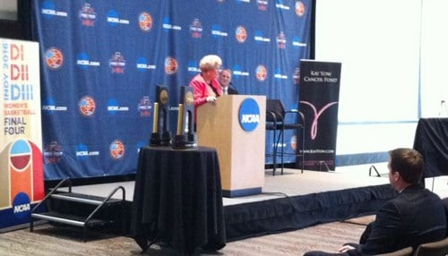 The grant was awarded at a NCAA Women's Final Four news conference Tuesday.